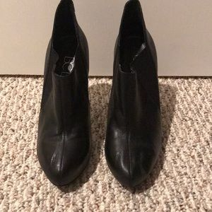 BCBG Booties. Black leather. Size 7. Worn Once.